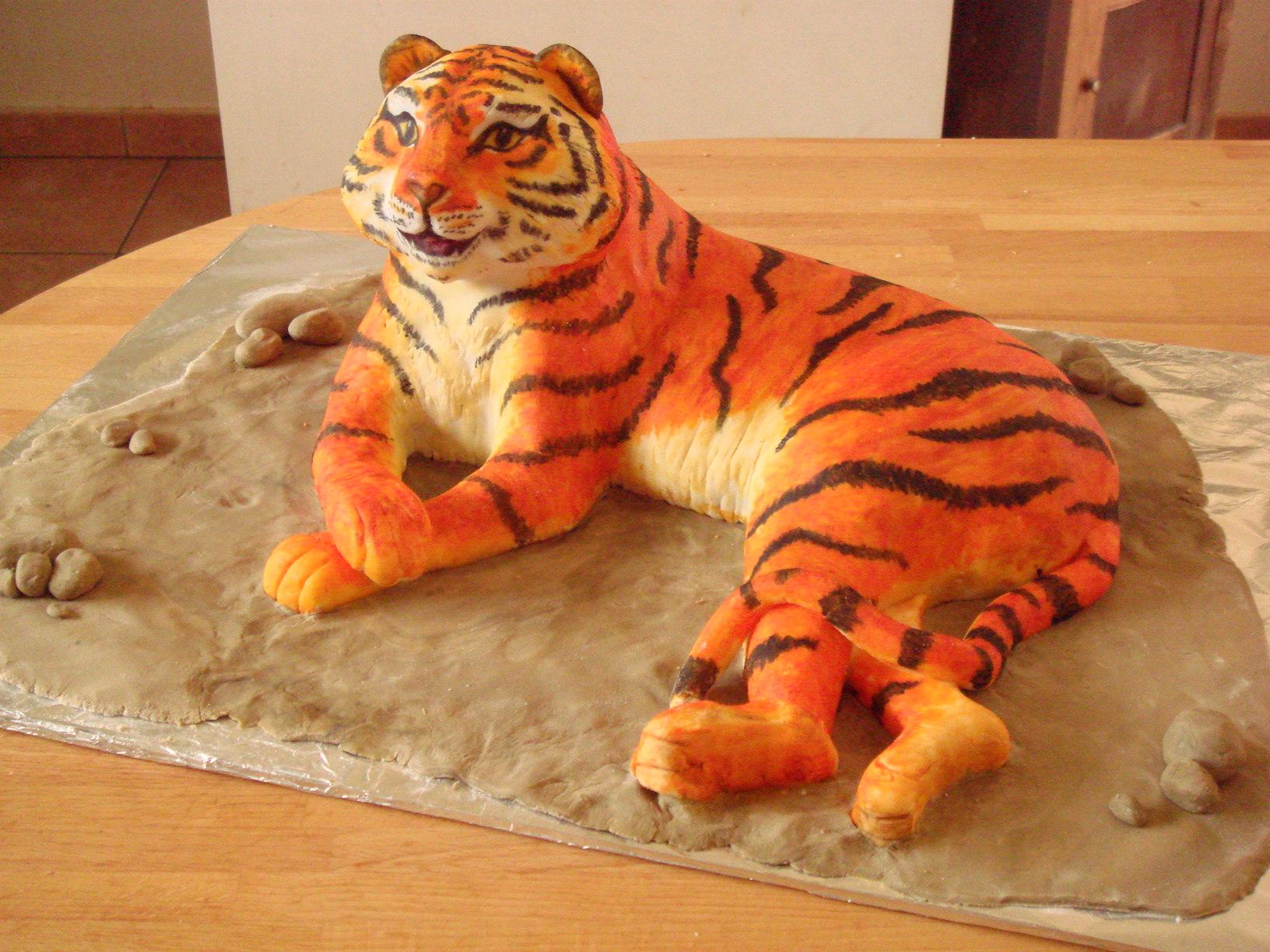 Открытка тигра своими руками